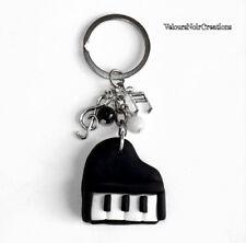 Portachiavi pianoforte a coda creato a mano musica pianista chiave di violino