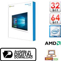 Genuine Microsoft Windows 10 Home Edition Product Licence Key 32bit 64Bit