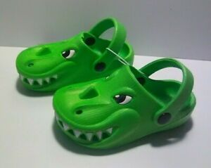Swiggles Toddler Boy's Green Alligator Clogs - Size: M (7/8)
