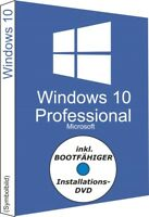 Win 10 Pro DVD + Key 64-Bit OEI DSP 1pk OEM Deutsch MS Windows Professional Code