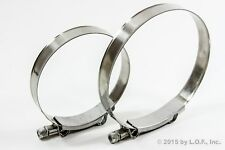 2 PC Stainless Metal Steel T Bolt Hose Clamps Assortment Kit Variety 4