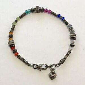 Brighton Gleam Colorful Bead Bracelet - Rainbow Multi-Color Crystals