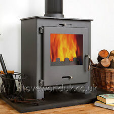5KW Nero 5 Grey Contemporary Woodburning Stove Stoves Multi Fuel Wood Burner