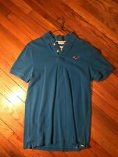 Holister Polo Solid Blue Sz Large