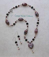 Jewelry Making Bead Kit  Roxanne Heart Pendant Kit with Instructions & Earrings