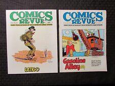 1985 COMICS REVUE Magazine LOT of 2 #15 FN- #16 FN- Latigo Flash Gordon
