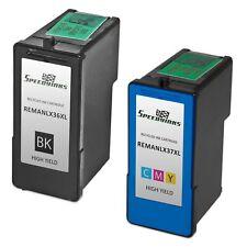 Reman Lexmark 36XL 18C2170 HY Black & 37XL 18C2180 HY Color 1 Black 1 Color
