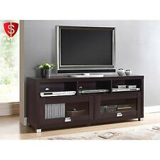 "TV Stand Entertainment Center Modern Wood 55"" Flat Screen Media Storage Console"