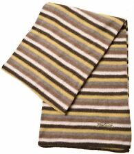 WOOLRICH Womens Scarf One Size Multicoloured Striped Wool  A107