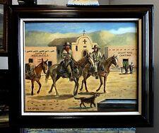 TRAPPERS ENTERING OLD SANTA FE original oil painting by Richard R. Nervig