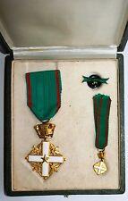 Decoration Militaire Italie en boite d'origine