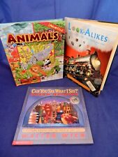 Lot of 3 Look & Find; Animals, Look-Alikes,Can You See What I See? Dream Machine
