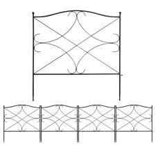 5-Panel 24inx10ft Folding Decorative Garden Fence Animal Border Plants Fencing