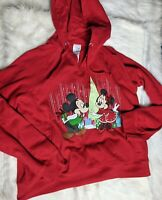 Disney Store Size XL Red Mickey Mouse Christmas Sweatshirt Cozy