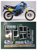 Kit completo YAMAHA XT 600 Z TENERE 1984  blù - adesivi/adhesives/stickers/decal