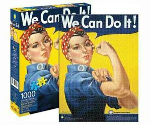 1000 piece Retro Smithsonian Puzzle WE CAN DO IT - ROSIE THE RIVETER Licensed