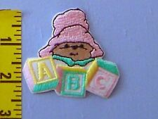 Baby Iron-on Patch Paddington Bear Applique Embroidered Pink Yellow Green #89