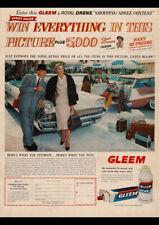 1958 GLEEM CHRYSLER NEW YORKER PLYMOUTH SUBURBAN V8 AD REPRO ART PRINT POSTER