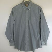 Brooks Brothers Mens Size 17 - 6/7 Button Down Long Sleeve Dress Shirt Striped