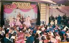 1950s Showgirls Desert Inn Interior Western Resort postcard 8843