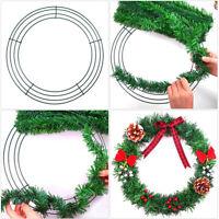 Weihnachts Metall Kranz Ring Rahmen Rund Basis Embryo DIY Hochzeit Xmas Dekor