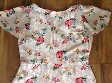 New *Next *(size 14 Tall) Blush Floral Jacquard Silky Light Dress.