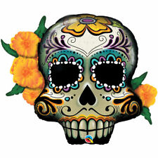 Party Supplies Day of the Dead Halloween Sugar Skull Shape Foil Balloon