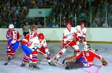 Valeri Kharlamov, Gerry Cheevers Team WHA 1974 Series with Russia 8x10 Photo