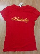 Kentucky Red State Shirt Athletic Graphic Tee Juniors Tshirt 2XLrg Louisville