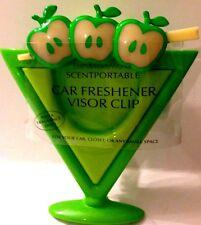Bath & Body Works Green Apple Martini Scentportable Freshener Case Visor Clip