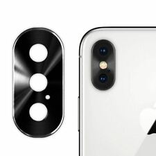Anillo protector metal objetivo lente cámara trasera de iPhone X con adhesivo