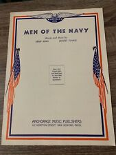 Vintage Sheet Music Men Of The Navy 1944 Kemp Read Ernest Towle