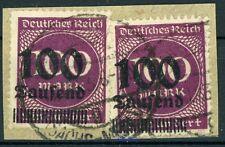 Dt. Reich: mi.nr.289a (2) con sello en carta trozo, gepr. Dero. mi: 280,-