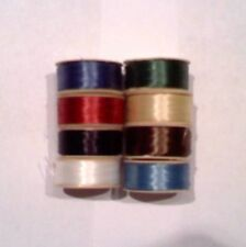 8 Bobbins NYMO Thread Assorted Color Size 0 (90 yards each) MIX