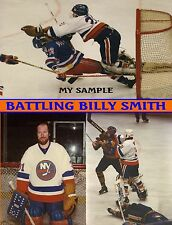 f289c6944 AWESOME BILLY SMITH NY Islanders NHL COLLAGE 8 X 10 Photo Goalie Mask Fight  Pads