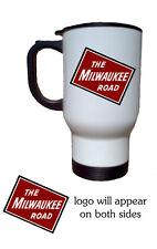 Milwaukee Road 14oz Stainless Steel Railroad Travel Mug A-Trains