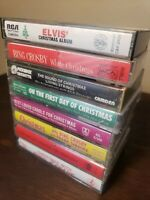 Lot of 8 Christmas- Audio Cassette Tapes Holiday music classics of the past
