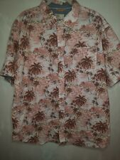 Mens Free Planet Hawaiian Button Down Shirt Size 2xl
