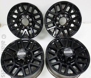 4 Takeoff Ford F250 F350 Super Duty 8 Lug Factory OEM Black 20 Wheels Rims 10104