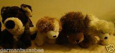 5 GANZ WEBKINZ plush stuffed dogs Cocker Spaniel Golden Retriever brown puppies
