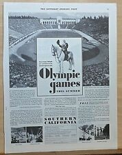 1932 magazine ad for Los Angeles Olympic Games - Gov. Rolph invites you