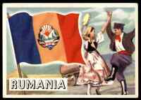 1956 TOPPS FLAGS OF THE WORLD RUMANIA #31 EX   OTR1X1