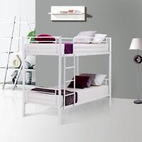 Metal Twin over Twin Bunk Beds Frame w/Ladder Child Adult Dorm Bedroom Furniture