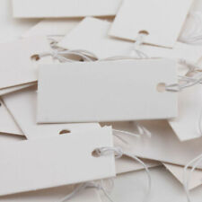 100 Pieces White Blank Tags With Elastic String Marking Price Labels Tag