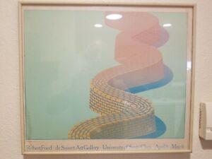 Vintage Robert Fried▪︎de Saisset Art Gallery▪︎Framed Gallery 1960s Promo Poster