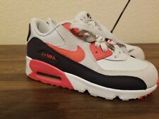 6002f3c1f0 NIKE AIR MAX 90 LTR GS LEATHER PURE PLATINUM/EMBER GLOW PINK-PURPLE D