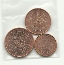 1 / 2 / 5 Cents AUTRICHE 2002 ou 2003 ou 2005 neuves ( U N C )