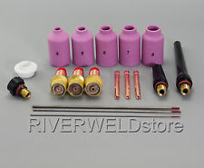 TIG Gas Lens Kit 2% Thoriated Tungsten Fit WP-17 WP-18 WP-26 Welding Torch 18pcs