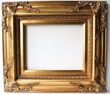 VTG Large Gold Ornate Rustic Picture Frames Baroque Wedding Photo Signs 20x24