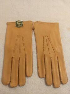 Vintage New mens Gloves Genuine Leather Deerskin size 9 1/2 with original tag